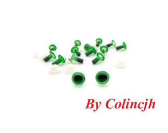 6mm Safety Eyes Plastic Eyes Animal Eyes Bear Eyes With Washers--green-10pairs J4
