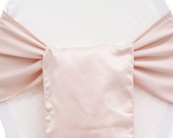 Blush Sashes, FREE1DAY SHIP, Chair Sashes, Pews, Aisle Decor, Chair Ties, Chiavari sash,