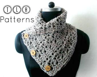 Crochet pattern, crochet cowl pattern, scarf cowl pattern, neckwarmer pattern, Chunky cowl pattern, Pattern No. 30