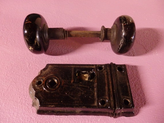 Privacy Door Lock With Black Ceramic Handles Easy Surface