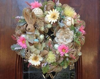 Pastel Bunny Wreath
