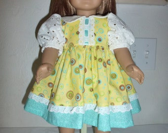 """18"""" Doll Dress Fits American Girl, Madame Alexander and Gotz and Our Generation Dolls"""
