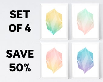 50% OFF, Minimal Colorful Wall Art - Temporary Offer - Only 1 Unit Available - INSTANT DOWNLOAD