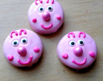 Chocolate covered oreos - pig character