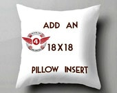 Pillow Insert Add On, Only Sold with Purchase of a Pillow Cover, Cushion Insert, Add a Pillow Insert, 18x18