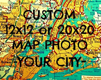 Custom map art, Father's Day Gift, Map Art Print, custom map, Fathers Day Gift from Daughter  Father's Day Gift from Son, city map, travel