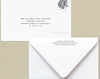 Custom Wedding Digital Calligraphy Envelope Addressing Printing - Font C210