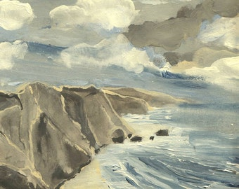 Big Sur, California #2 - Original Acrylic Painting