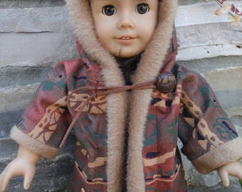 18 Inch Doll Clothes Kaya fur trimmed Jacket (Faux fur of course) by  Project Funway