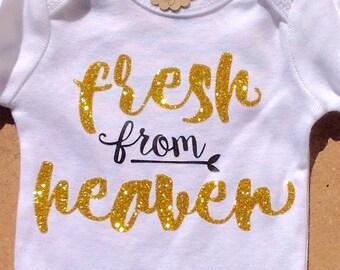 Fresh From Heaven Short Sleeve Bodysuit
