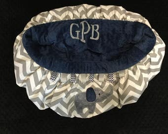 Grey  and Navy Chevron Elephant Shopping Cart and High Chair cover