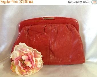 ON SALE Red Purse Red Clutch