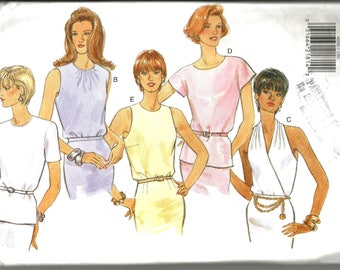 Butterick 4056 uncut size 18 - 22 five very pretty easy blouses