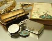 Job lot antique vintage Edwardian Art Deco and later jewelry jewellery spares repairs parts upcycle