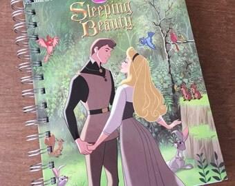Sleeping Beauty Little Golden Book Recycled Journal Notebook