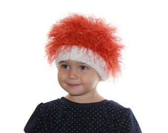 Baby and adult hats / Cabbage Patch Kids Hat  / Beanie Wig  /  fuzzy hat /  Halloween  / Pumpkin /  troll wig / Raggedy Ann and Andy