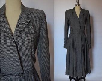 1980's Black and White Dress Coat