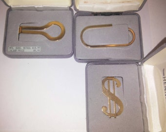 3 Assorted Goldplated Money Clips