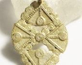 Shiny Brass Pendant from Africa, Ethnic Jewelry Supplies, Ethnic Pendant (*AH288)
