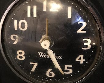 Vintage Alarm Clock by Westclox Retro Cottage Chic Farmhouse Funky It Works! SALE PRICE was 14.00 now 10.00