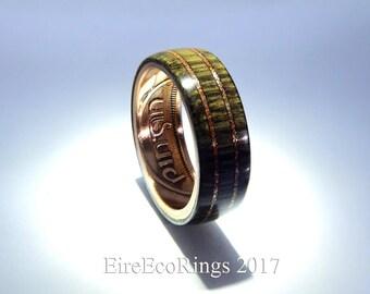 Wood wedding rings custom Irish handmade bog Oak jewelry