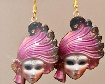 Flapper Mask Earrings