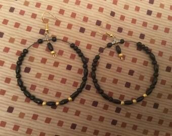 Beautiful black hoops