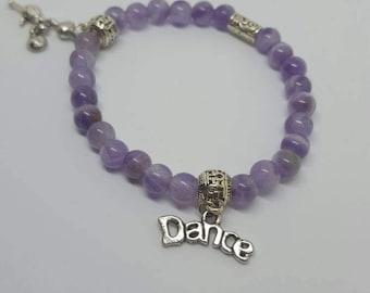 Dance - Amethyst Beaded Bracelet