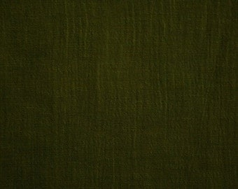 "Olive Drab Green Cotton Gauze Fabric 52"" Wide Per Yard"