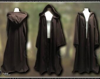 Monks robes, space knight, sci-fi monk, hooded coat, LARP, Ren, hooded cloak, polar fleece