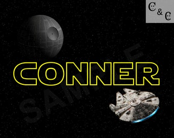 Personalized DIGITAL IMAGE - Star Wars - DIY room decor and gifts