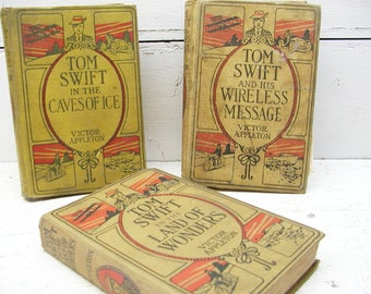 Vintage Tom Swift Adventures Childrens Book Set of 3