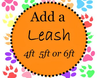 Sale Coupon Code SFFLEA30 30% Off -  3 FT, 4FT, 5FT or 6 FT Dog Leash - Leash to go with Your Collar - Available in all Dog Collar Listings