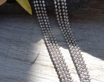 Italian sterling 2mm ball chain. Sterling silver military chains.