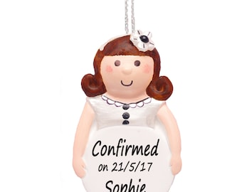 Personalised Confirmation Gift for Girls, Keepsake Ornament by Truly for You