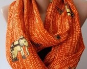 Christmas Gift Holiday Gift Elephants Scarf Loop scarf Fashion accessories gift For her