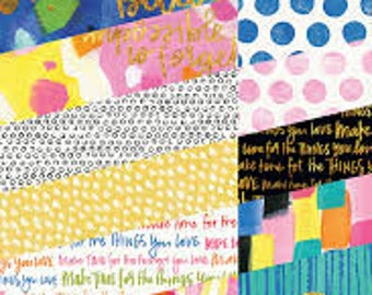 Bella Blvd Make Your Mark 6x8 Paper pack - 24 sheets of double sided papers for crafting - includes gold foil designs