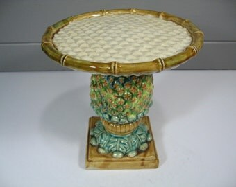 Ceramic Dessert Stand, Unique Pineapple Decor, Pineapple Cake Stand Server, Small Plant Stand