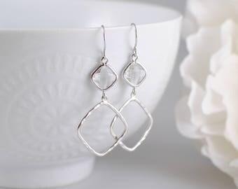 The Sophie Earrings - Crystal/Silver