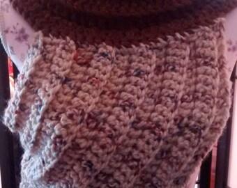 Katniss from Hunger Games inspired crochet cowl/cross body sweater