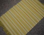 Yellow Rag Rug