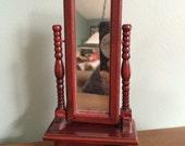 Dollhouse mirror, cherrywood dollhouse furniture