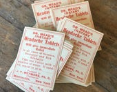 Dr Meads Headache Tablets Vintage Pharmacy Paper Labels