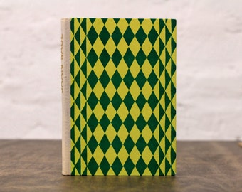 """Old Book Sketchbook Tartuensis Classic """"Green Rhombus"""" with Dotted Paper"""