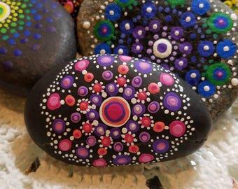 Pinkburst Mandala Rock