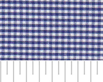 High Quality Fabric Finders Nautical Blue Gingham