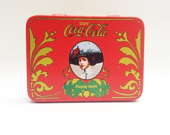Vintage Coca Cola playing card tin