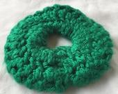 HC Kelly Green Crocheted Scrunchie