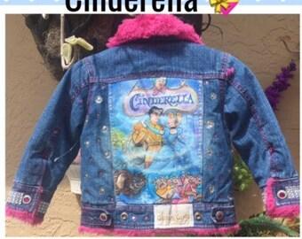 Cinderella Jacket*Princess Jacket *Ready To Ship Now*Denim Jacket*Bling Girls Jacket*Princess Denim Jacket*