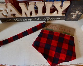 Custom made lumber jack baby boy bib and pacifier holder gift set. (made with buffalo plaid)